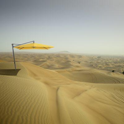 gelber Sonnenschirm